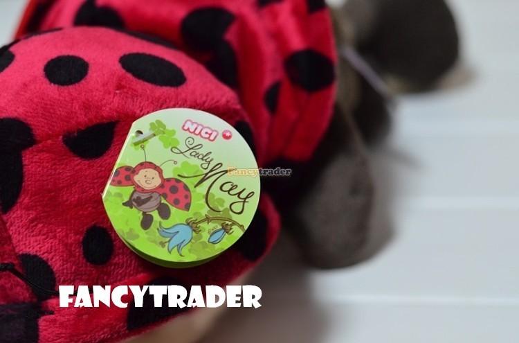 Fancytrader 20\'\' 50cm Copyrighted Plush Stuffed NICI Happy Spring Time Ladybug FT90400 (2)
