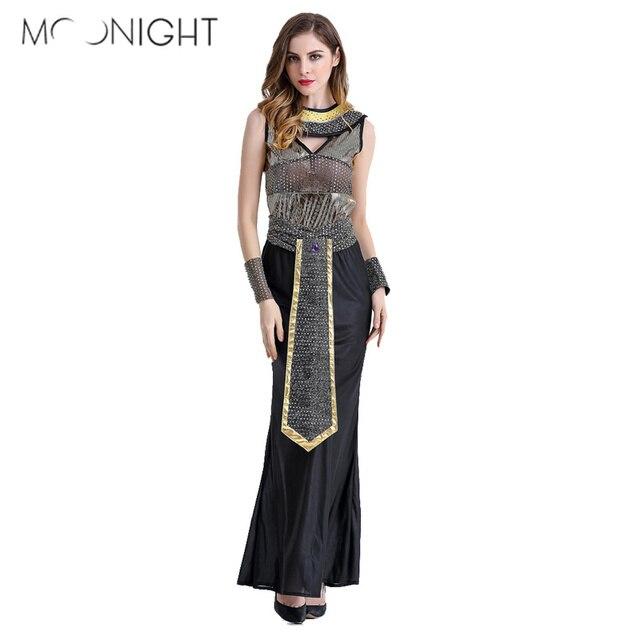 4b8c901253 Moonlight kostiumy na Halloween starożytnego egiptu kleopatra królowa  kostium Cosplay odzież dla kobiet Fancy Dress kostium