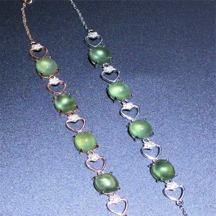 KJJEAXCMY Fine jewelry Natural grape Stone Bracelet inlaid custom made wholesale S925 sterling silver jewelry