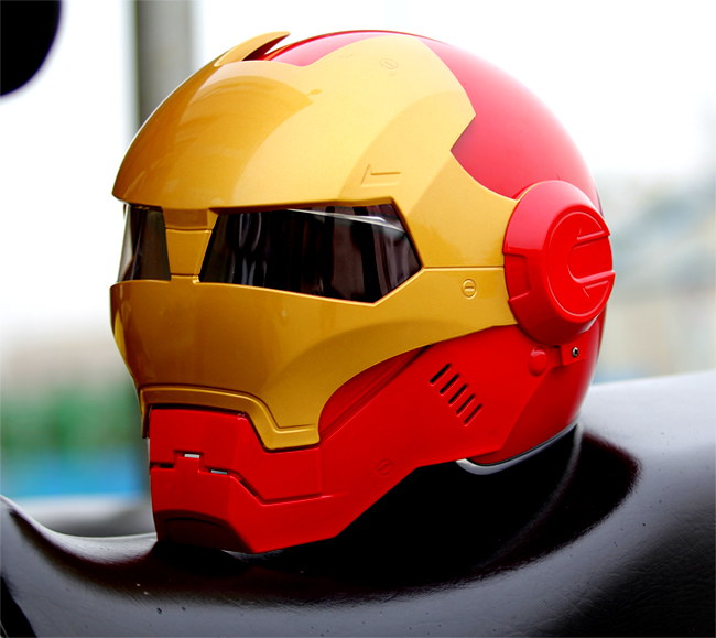 MASEI IRONMAN Iron Man helmet motorcycle helmet half helmet open face helmet casque motocross red 610 M L XL free shipping m