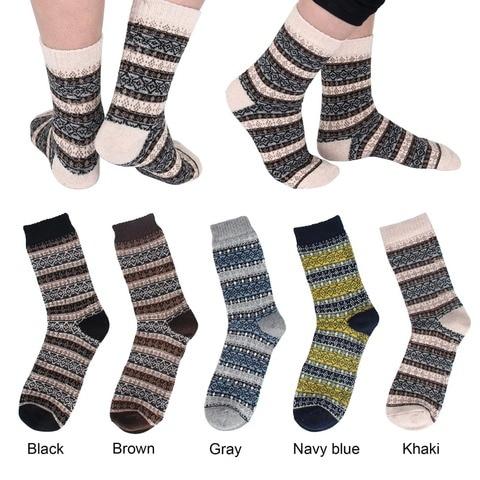 2018 New Autumn Casual Mens Socks Stripe Wool Socks Business Male Socks Multan