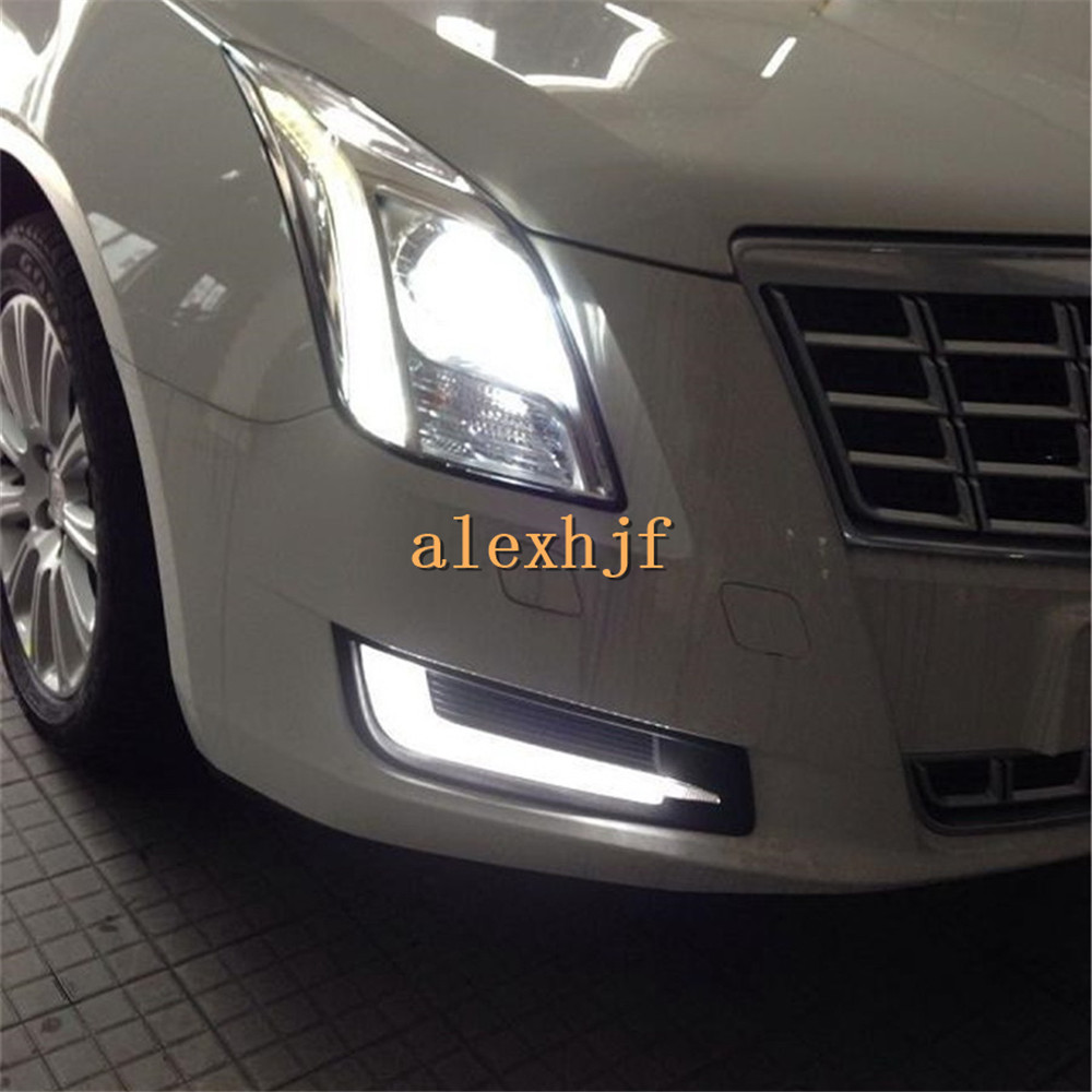 July King LED Daytime Running Lights LED Front Bumper DRL Case for Cadillac XTS 28T 2013 Comfort Edition 1:1 free shipping july king led daytime running lights drl case for honda crv cr v 2015 2016 led front bumper drl 1 1 replacement