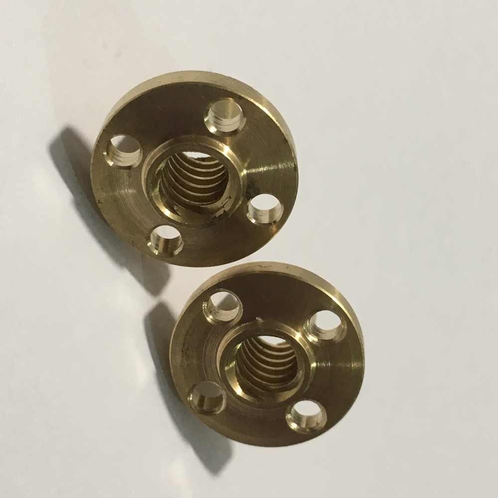 3D ชิ้นส่วนเครื่องพิมพ์ทองแดงสกรูรูปสี่เหลี่ยมคางหมูสำหรับ T8 สกรู T8 ถั่ว stepper มอเตอร์, สกรูราง