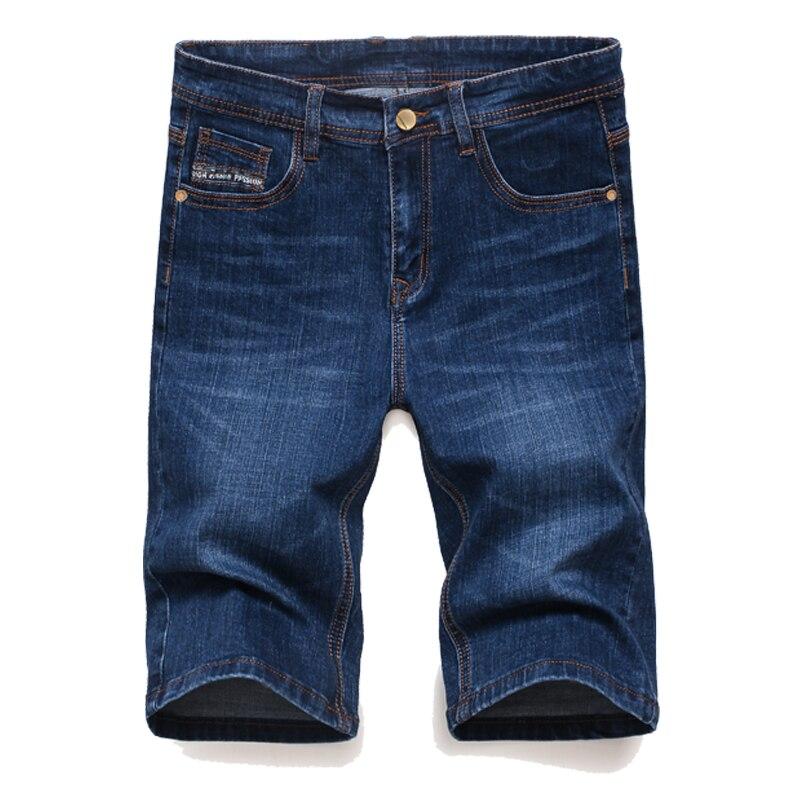 new fashion mens short jeans cotton summer style shorts breathable denim shorts male jeans black blue цены онлайн
