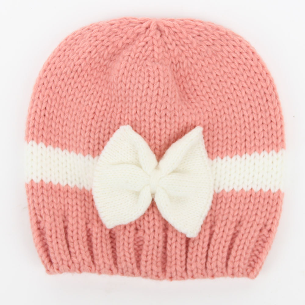 baby kids winter knitted beanie hat for infant newborn boys girls cap with  bows-in Hats   Caps from Mother   Kids on Aliexpress.com  e190d65d028