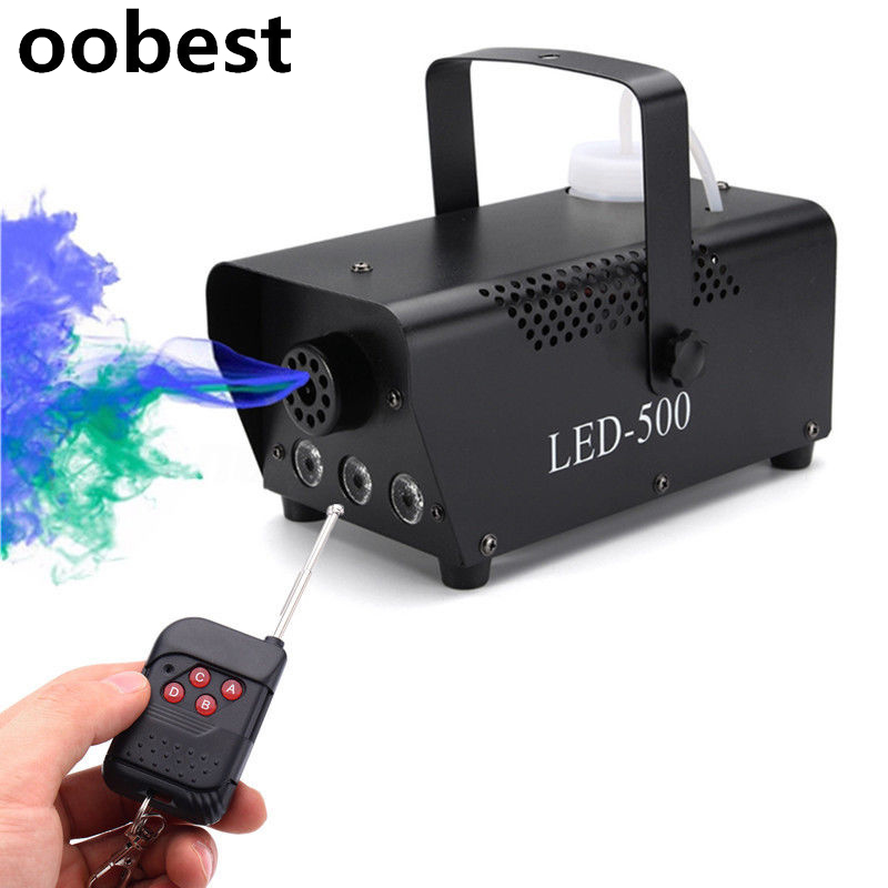 oobest 500W LED Fogger Smoke Machine Atmospheric Effects Light Fog Machines With Controller For Party Live DJ Bar Stage Effects 3500w ground low fog water dry ice smoke machine for stage wedding party