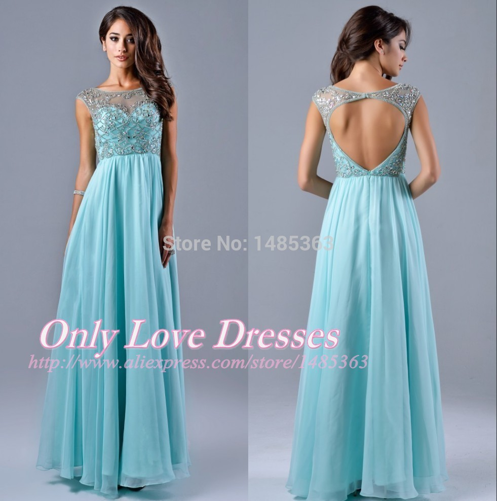 Light Blue Unique Prom Dress_Prom Dresses_dressesss