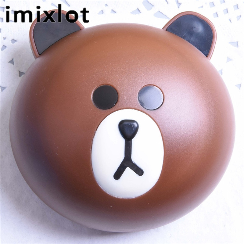 IMIXLOT Travel Portable Cute Animal Bear/Rabbit Contact Lens Case For Women Storage Container Holder Box