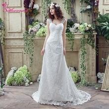 Alexzendra Stock Dresses Mermaid Lace Wedding Dress dengan Straps Sayang Elegant Bridal Gowns Siap Dikirim