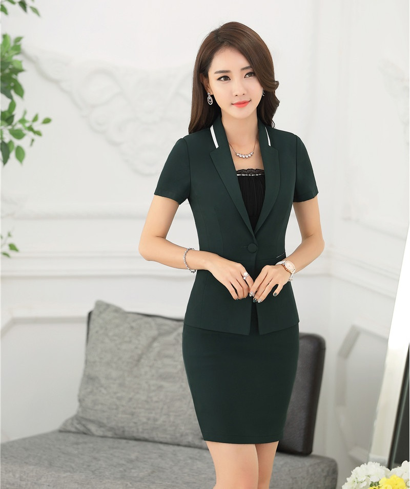 Online Get Cheap Women Business Suits Formal Office Suits Green ...
