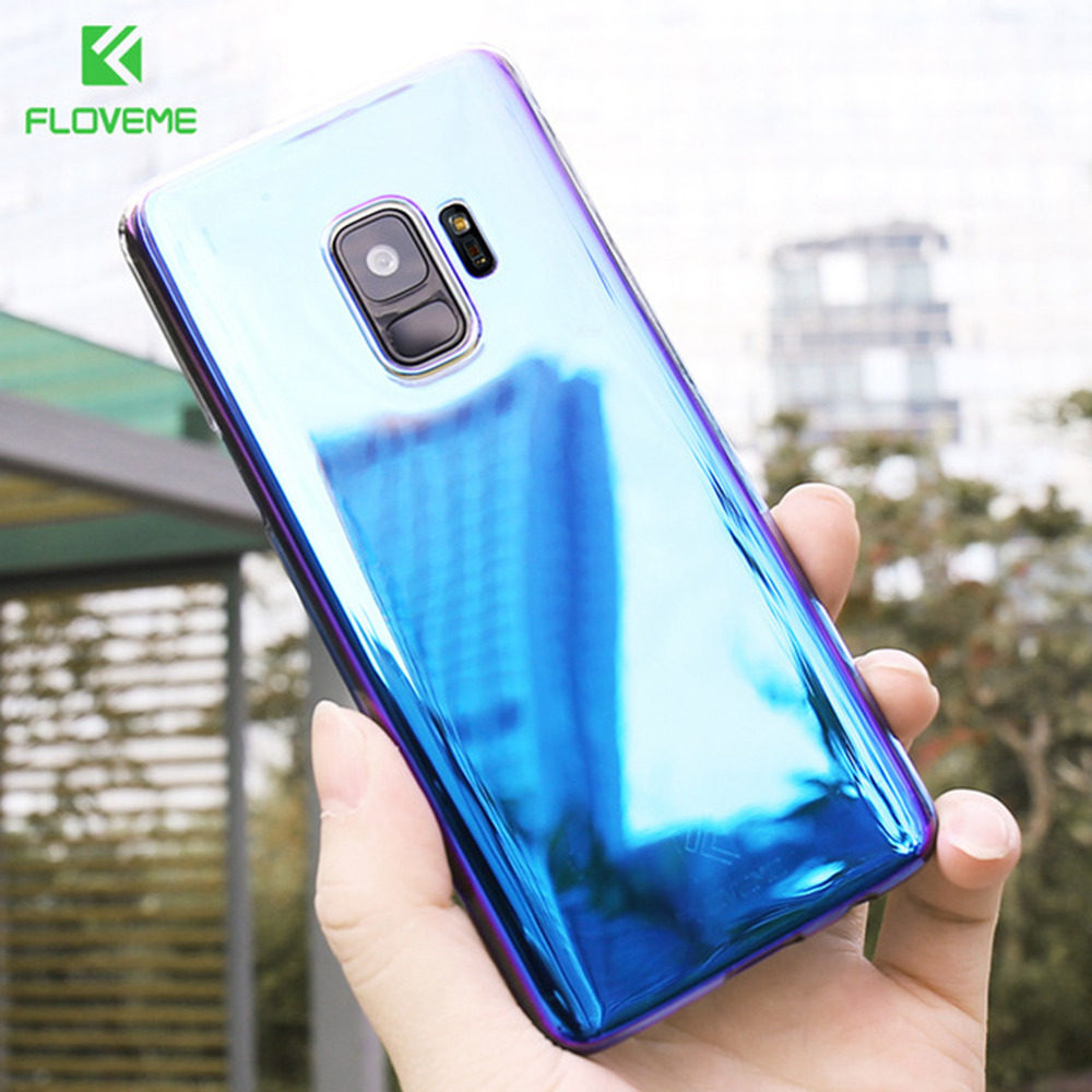 Online Shop Floveme Luxury Blue Light Ray Phone Case For Samsung Flip Wallet Cover Casing Galaxy S6 Edge Plus Bulk Pack Biru S8 S9 Back Cases Note 8