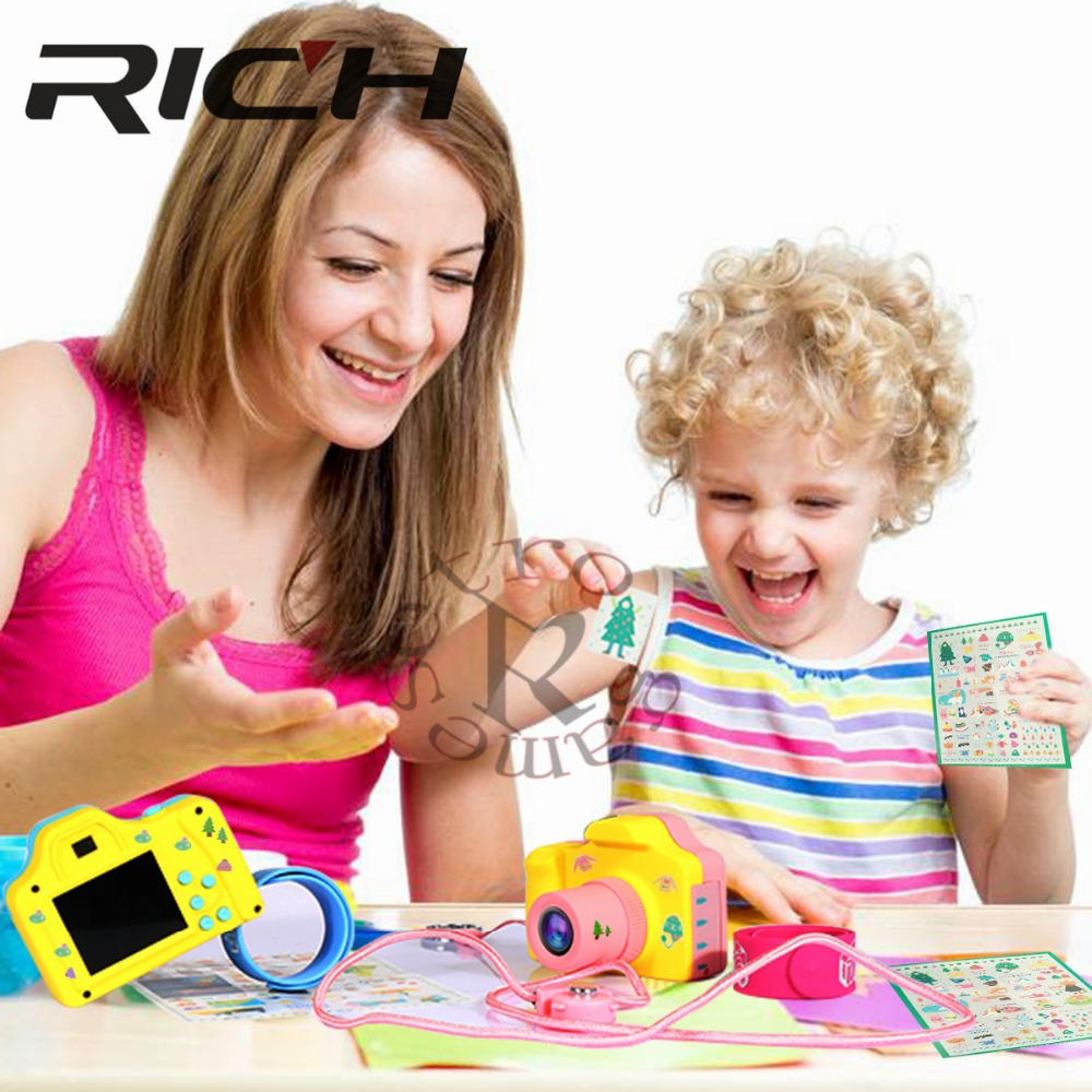 1.77Inch 32GB Digital Camera Kids Baby Full Color Mini LSR Cartoon Camcorder Video Recorder Support TF Card 4640*3680