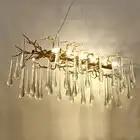 French crystal lamp living room chandelier LED tree branch decoration chandelier hotel restaurant lights
