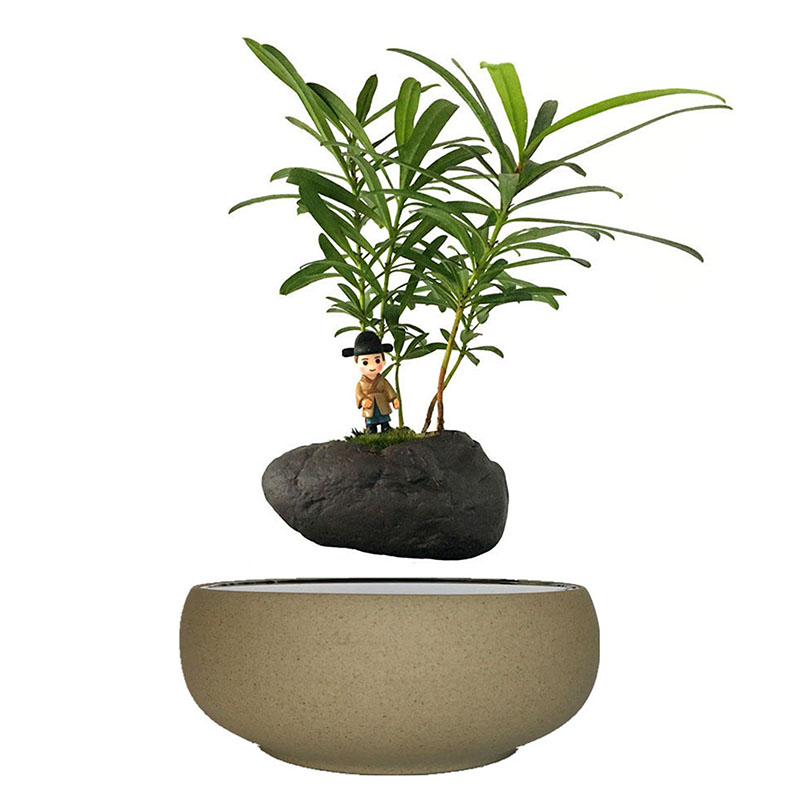 2018 japan Levitation Plant Pot Air Bonsai Tree Ceramic Planter Birthday Gifts for Women (no plant) free shipping