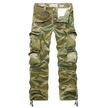 Neue 2017 frühling und herbst mode multi-tasche einfarbig komfortablen waschen männer casual tooling camouflage hose