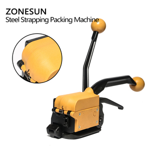 Image 3 - ZONESUN Portable A333 Buckle free Steel Strapping Tool Sealless Combination A333 Steel Strap Tool Manual Box Strapping Machine