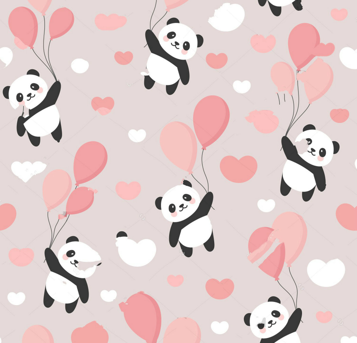 US $15 61 OFF Panda Cute Sky Colorful Balloons Clouds Cartoon Panda Bears Backdrop Puter Print Children Kids Backgrounds Background