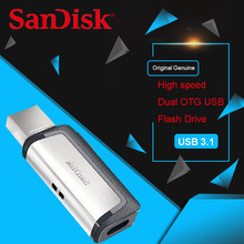 Original Sandisk Extreme Type-C 128GB 64GB Dual OTG USB Flash Drive 32GB Pen Drive USB Stick Micro USB Flash Type C 16GB