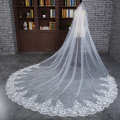 Beautiful Wedding Veil 3m Long With Applique Edge Lace Bridal Veil Wedding Accessories Veu De Noiva