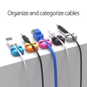 Image 3 - ORICO 10 Pcs Cable Organizer Colorful Holder Protector Wire Storage Silicone Cable Manager Desk Tidy Organiser For Digital Cable