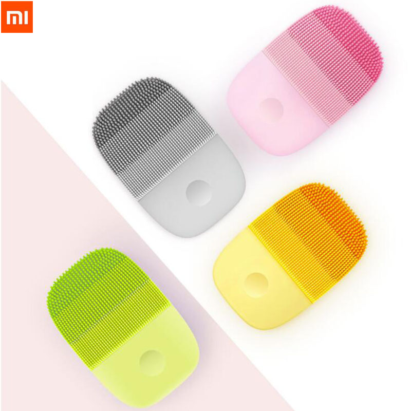 Xiaomi InFace Electric Sonic Facial Cleaning Massage Brush Sonic Face Washing Waterproof Silicone Face Cleanser Skin Care Mass ultrasonic skin scrubber gif