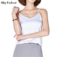 Women Camisole Camis Silk Halter Top 2018 Sexy Sleeveless Vest Slim Tank Tops Female Roupas Solid