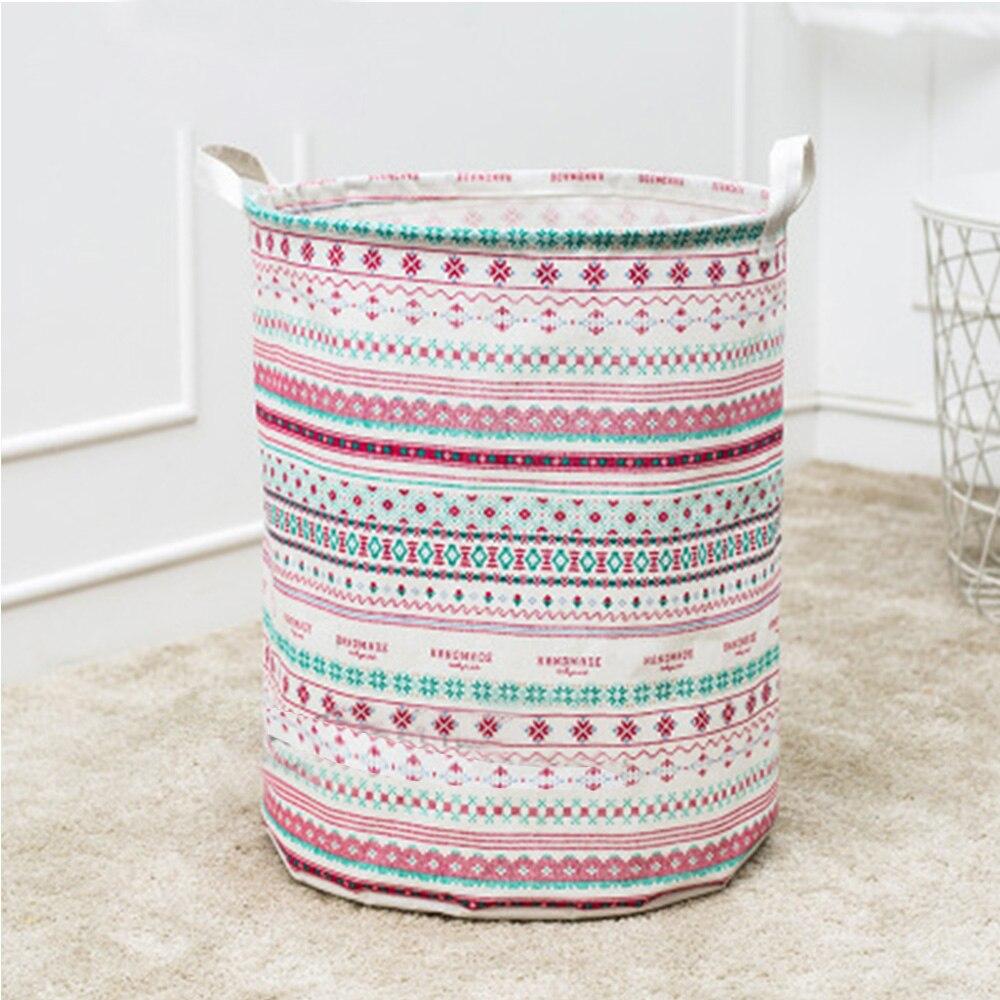 Tela cesta de lavadero baño lavandería juguetes almacenamiento cesta ...