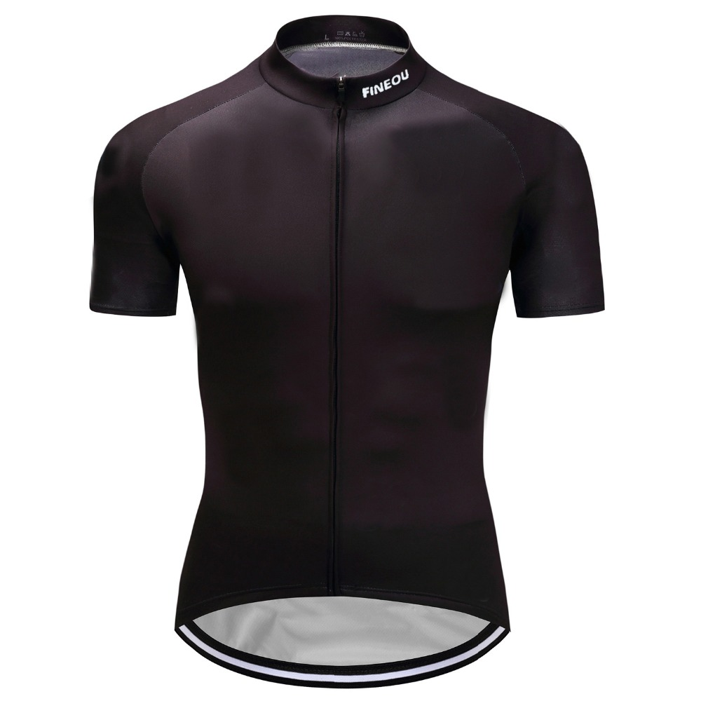 2019 New Mens Short Sleeve Cycling Jerseys Bike Racing Team Tops Uniforms Cycle Jersey Bicycle Fashion Black Four Seasons Shirt Good Reputation Over The World