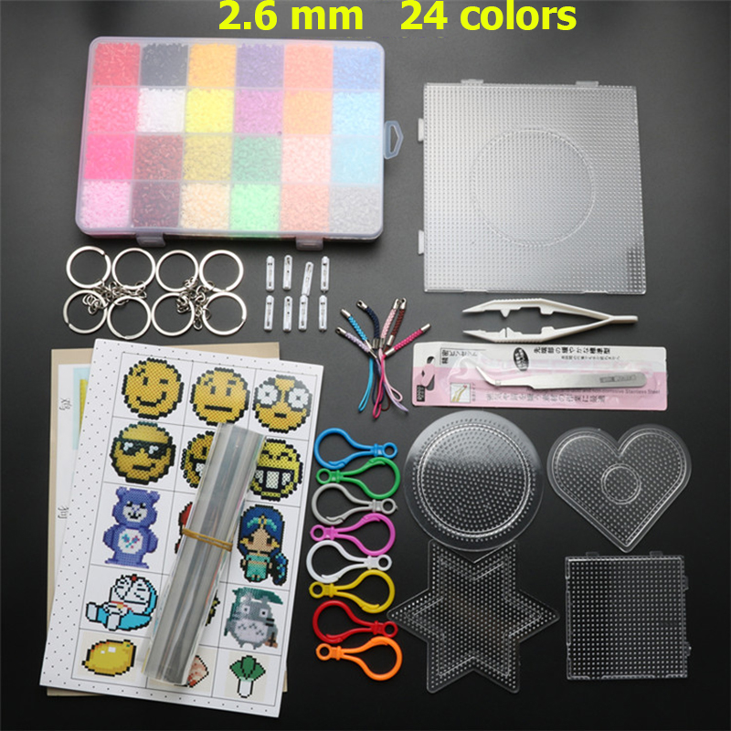 2.6mm 24 Colors 13000pcs Hama Beads Pegboard Set Toy Educational Perler Beads Template Puzzles DIY Kids Toys