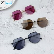Zilead индивидуальные девушки горячие модные мальчики ребенок солнцезащитные очки классика ретро Декоративный металл рамка солнцезащитные очки с защитой от ультрафиолетового излучения
