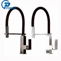 Beautiful And Practical Bathroom Kitchen Mixer Faucet Single Lever Deck Mounted Nickel Brushed Black Hot And