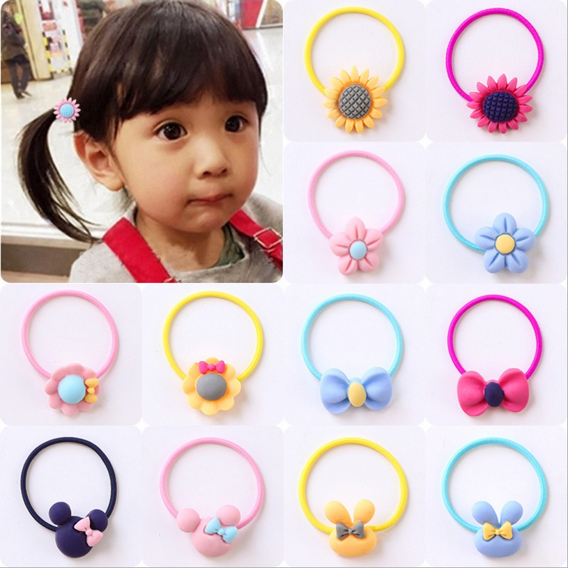 Fashion Kids Elastic Hair Bands Headbands Soft Fabric Cartoon Girls Hairband Children Hair Accessories Rubber Band