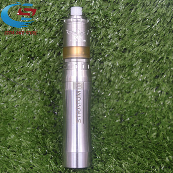 E-cigarette YFTK Mech Stratum zero mod with M5/V6 S MTL RTA e-cigarette Kit 18650 20700 21700 battery 26mm mechanial mod vape e cigarette mech mod kit built in 18650
