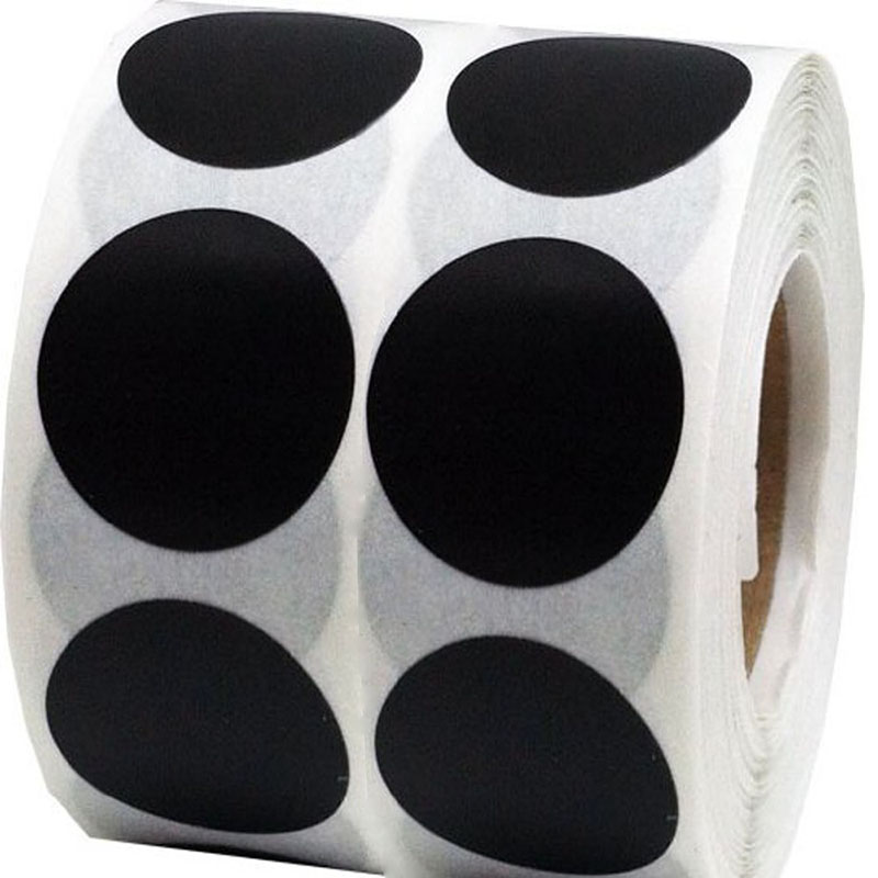 Smart Sticker 1 Inch Round Blank Black Shooting Target Pasters 1,000 Round +33 Heart Adhesive Target Dots