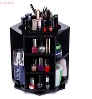 Hot 360 Degree Rotating Makeup Organizer 32x27 5cm Multi Function Makeup Holder Home Dresser Shelf 2016