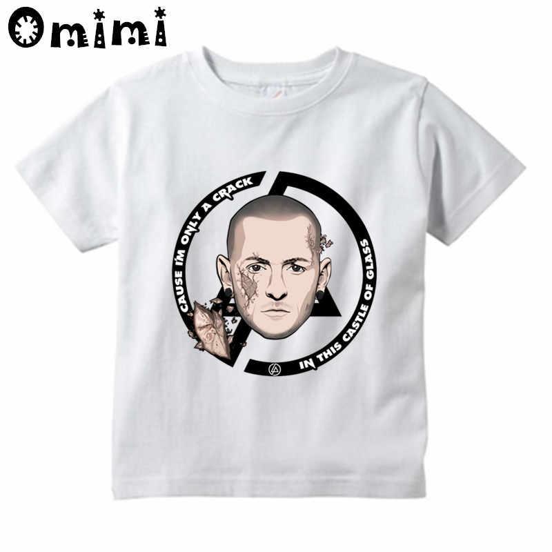 בנים/בנות לינקין פרק צ 'סטר בנינגטון מודפס T חולצה ילדים קצר שרוול חולצות ילדים של לבן חולצה, ooo4071