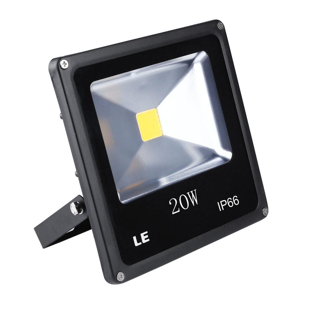 LE 20W Super Bright Outdoor LED Flood Lights, 200W Halogen