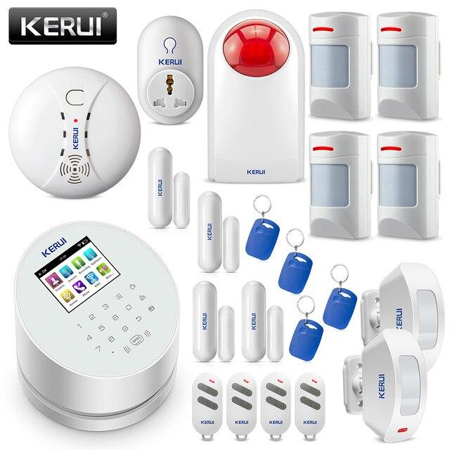 Original KERUI W2 WIFI GSM PSTN Sicherheit Alarm System Smart Home RFID Disalarm Niedrigen batterie Anzeige Einbrecher Alarm System