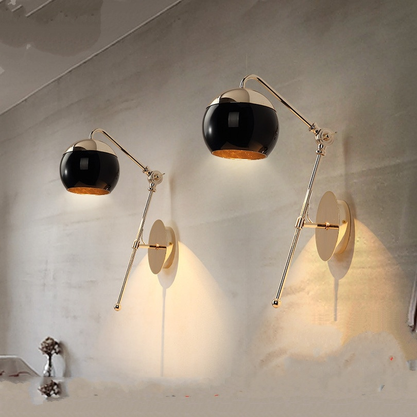 Modern Art Glass Ball Wall Lights for Living Room Dining Room Wall Lamp Bedroom Cafe LED Light Home Decor Light Fixtures