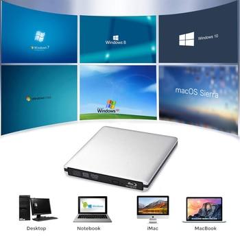 Bluray USB 3.0 External DVD Drive Blu-ray Combo BD-ROM 3D Player DVD RW Burner Writer for Laptop Computer Mac PC HP ACER ASUS