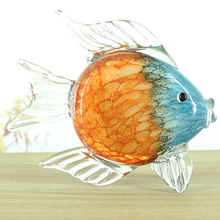 Glass glaze fish crafts ornaments Crystal Figure Paperweight Ornament wedding Decor Figurines Home