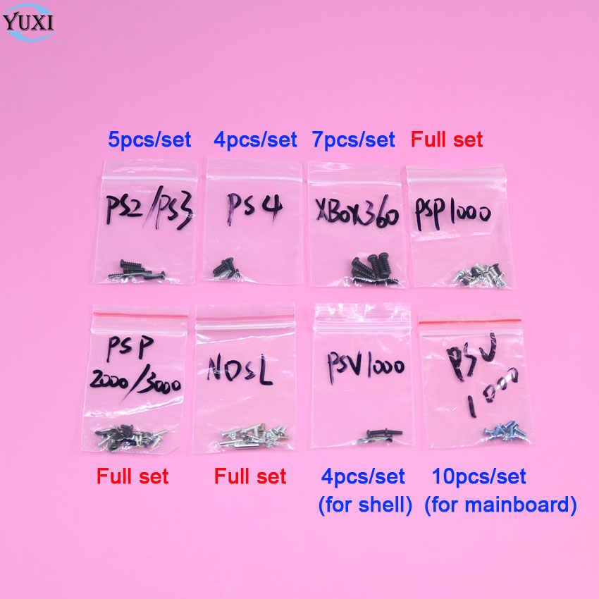 YuXi Sekrup set penggantian Bagian Untuk Sony PS2 PS3 PS4 PSP1000 PSP2000 PSP3000 PSV1000/Untuk XBOX360/Untuk Nintendo DS Lite