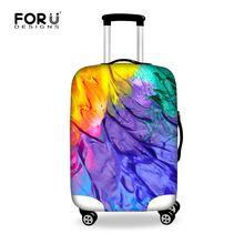 FORUDESIGNS Graffiti Printing Protective Luggage Cover Elastic Travel Luggage Cover Dust-proof Trolley Suitcase Cover Protector