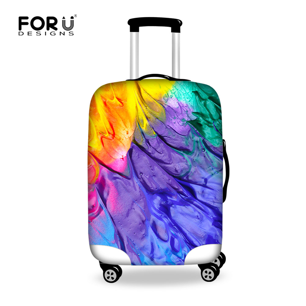 FORUDESIGNS Graffiti Rainbow Luggage Cover Protective Elastic Travel Luggage Cover Dust-proof Trolley Suitcase Cover Protector