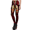 New Arrival 3759 Sexy Girl Superhero The Avengers Iron Man Printed Elastic Fitness Polyester Workout Women Leggings Pants Plus