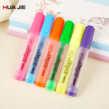 Colorful Highlighters 12Pcs Student Candy Color Mark Pen School Stationery Fluorescent Highlighter Office Supplies ST-886