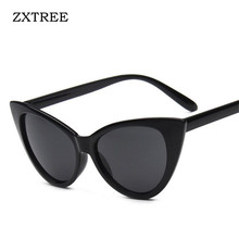 Фотография ZXTREE HOT Fashion Classic Cat Eyes Sunglasses Women Men Vintage Mirror Unisex Elvis Sun Glasses Luxury Lady Eyewear Accessories