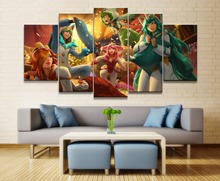 Soraka League of Legends Game 5 Piece HD Print Home Painting Wall Art Canvas Modern Decorative For Living