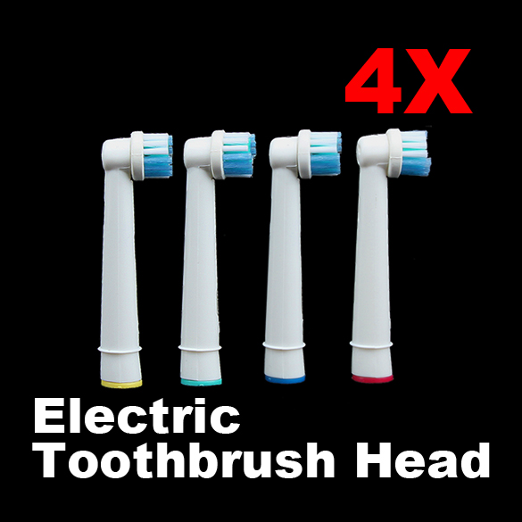 New Fashion 4Pcs Tooth Brushes Head B Electric Toothbrush Replacement Heads for Oral Vitality Hygiene 2pcs philips sonicare replacement e series electric toothbrush head with cap