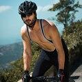 Santic, мужские велосипедные нагрудники, 4D подкладка, подушка, зима, MTB, велосипед, Велоспорт, нагрудник, длинные штаны, теплый флис, Азиатский Ра...